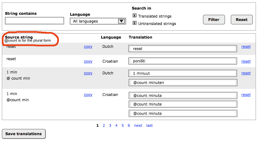 New UI for string translation [#1452188] | Drupal.org