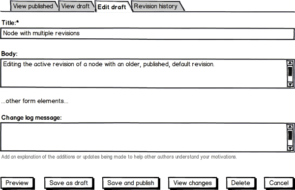 Provide a better UX for creating, editing & managing draft revisions