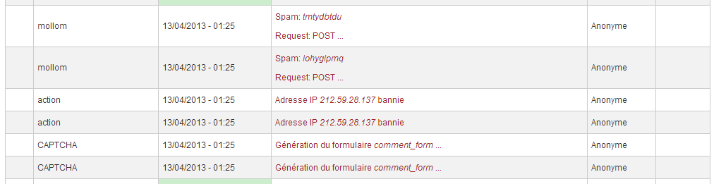 Two spams sent simultaneously, case 2