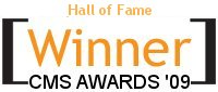 Drupal wins Hall of Fame Award in the 2009 Open Source CMS Awards