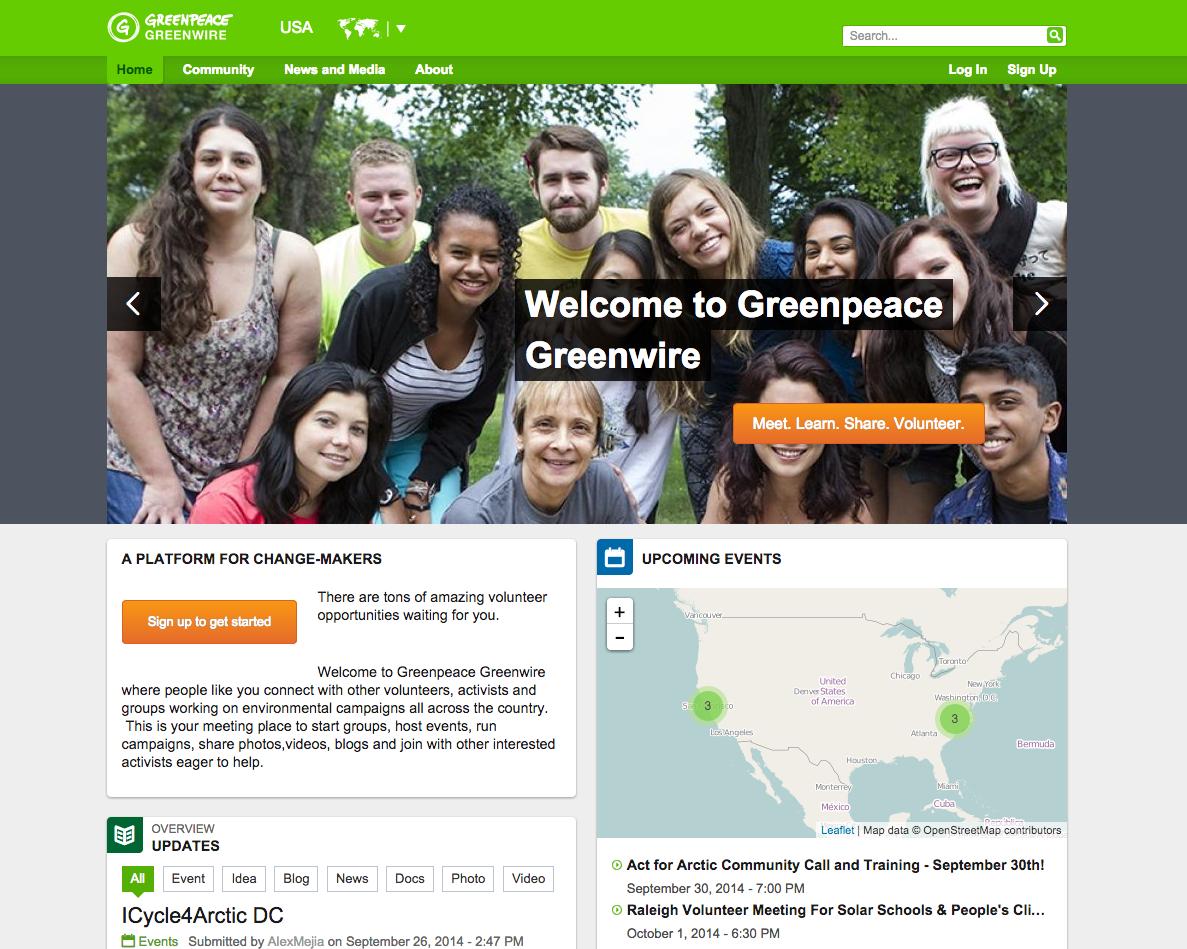 Greenpeace Greenwire Global Community | Drupal.org