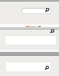 Search box not showing cursor in Mac browsers, alignment of