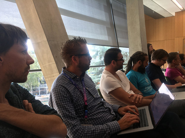 Dries taking notes at a previous round table