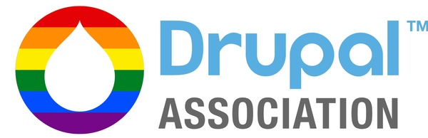 Drupal Association logo with added Pride