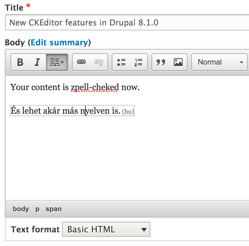 New CKEditor features in Drupal 8.1.0