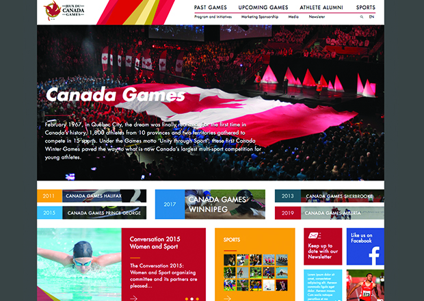 Canada Games Council Drupal Homepage