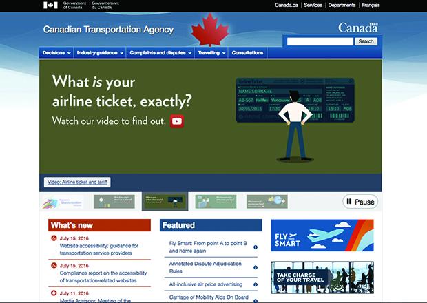 Canadian Transportation Agency Drupal Homepage