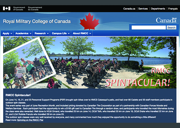The Royal Military College of Canada Drupal Homepage