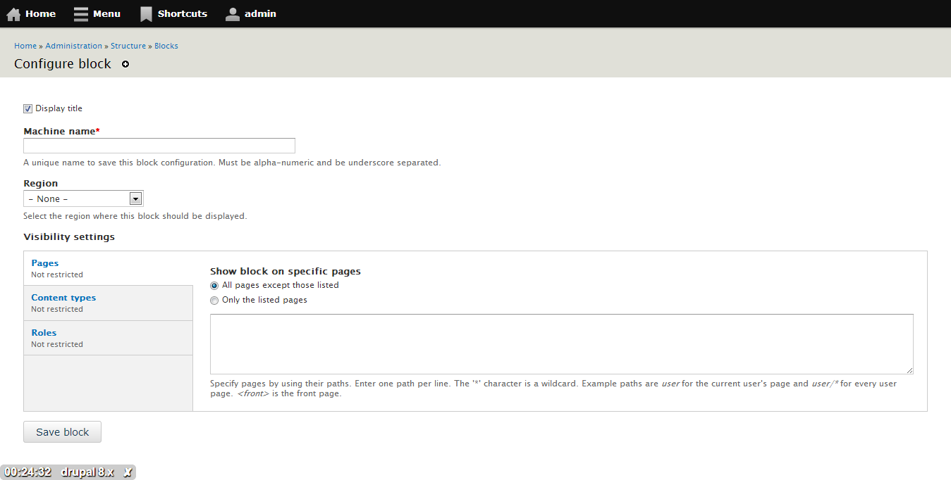 New configuration form for Recent Comments block