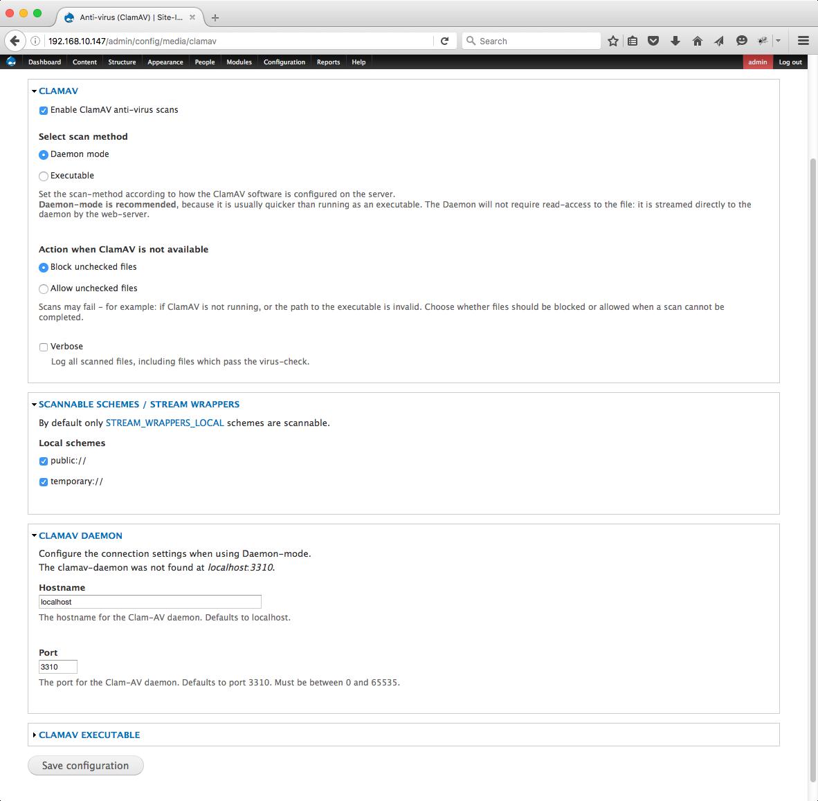 ClamAV   Drupal org