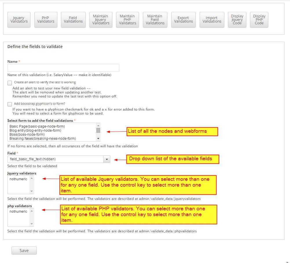 Validating input data php