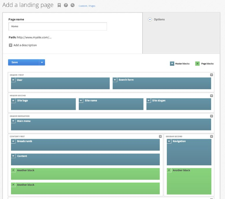 Add simple blank page creation capability [#1840500] | Drupal.org