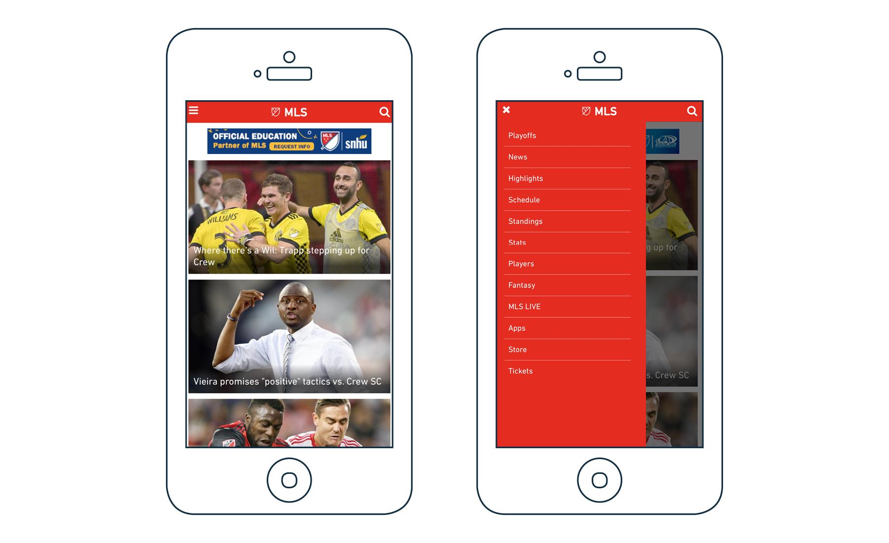 MLS Homepage Mobile