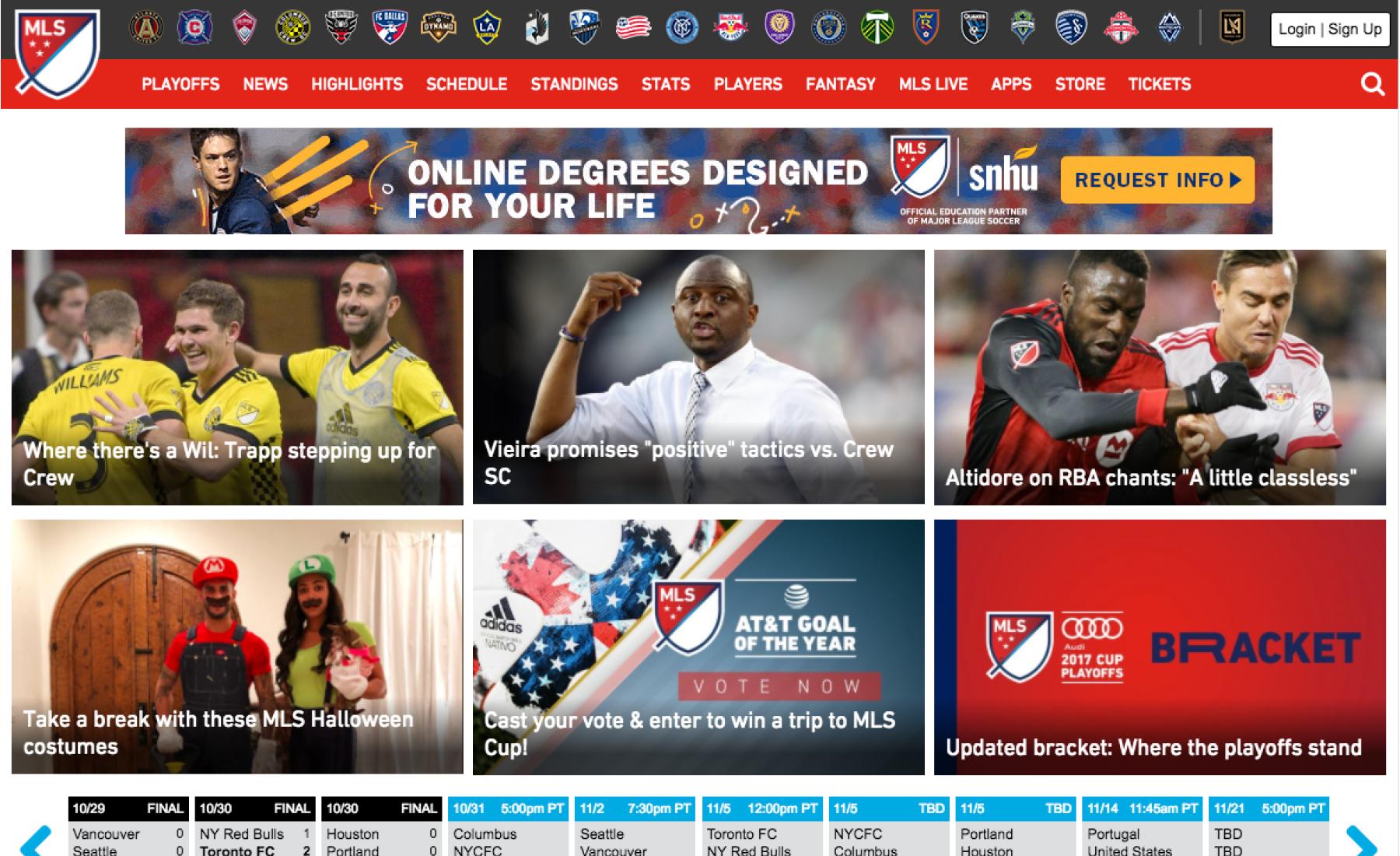 MLS Homepage