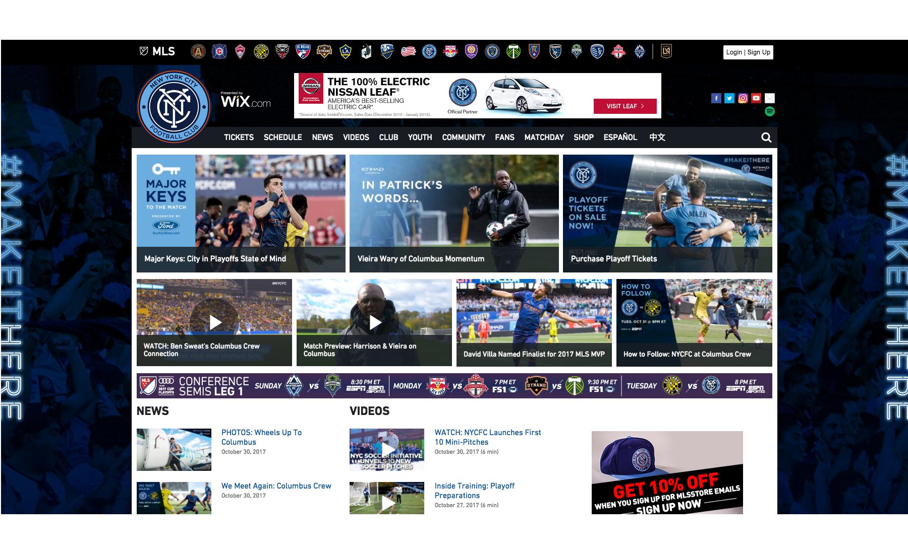 NYCFC Homepage