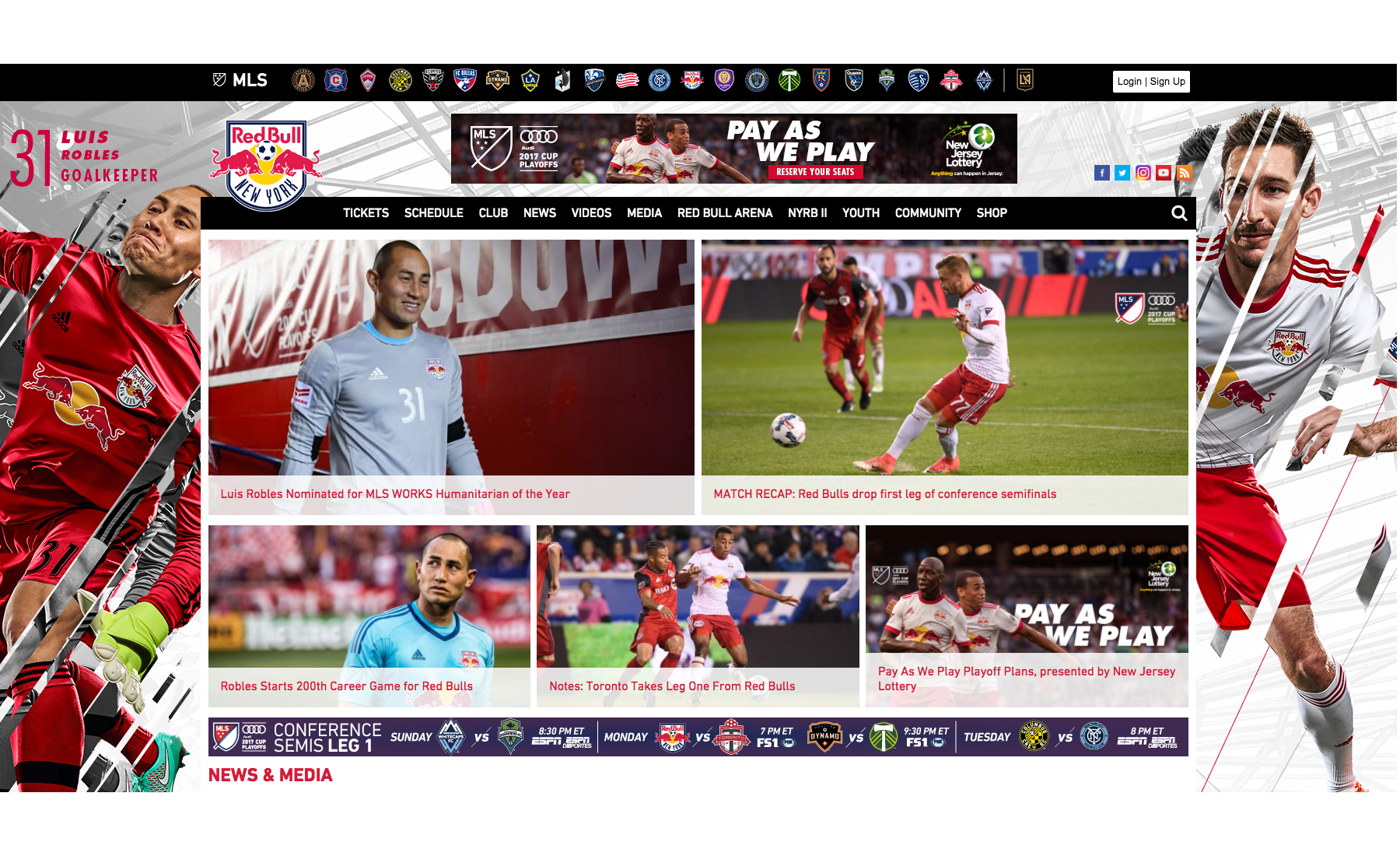 Team Branded Site within MLS