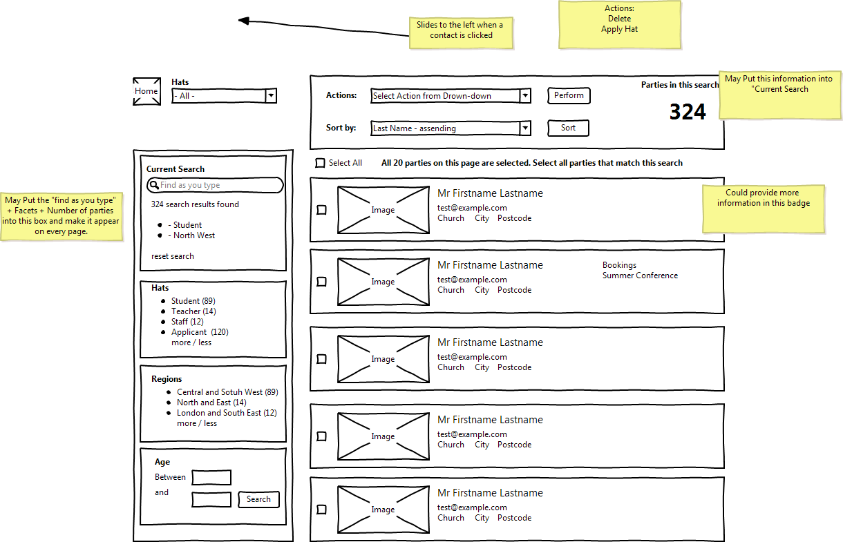 Party Dashboard Wireframe [#1635442]