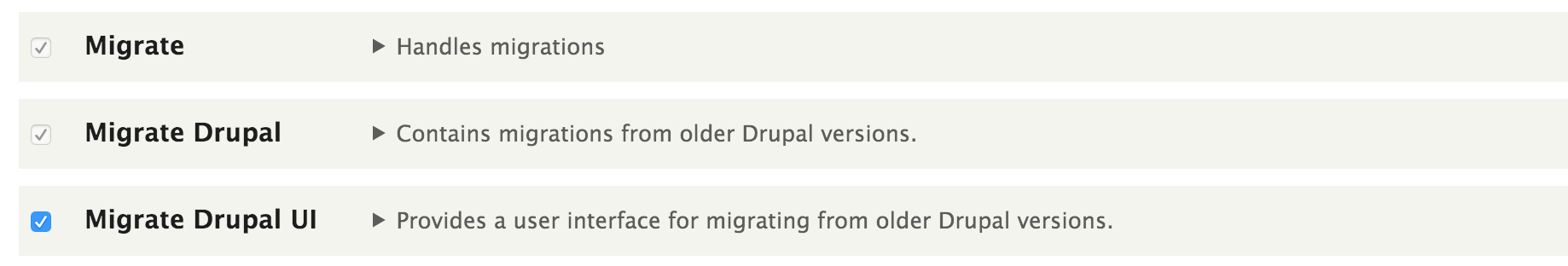 Migration related modules in Drupal 8.1.0