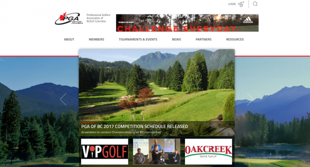 PGA of BC homepage