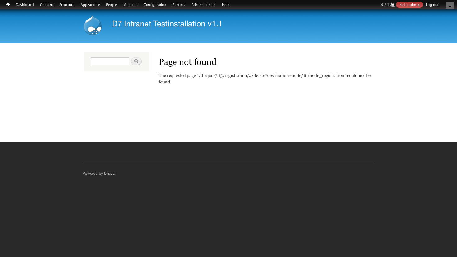 Page Not Found For Actions On  U0026quot Node Registration