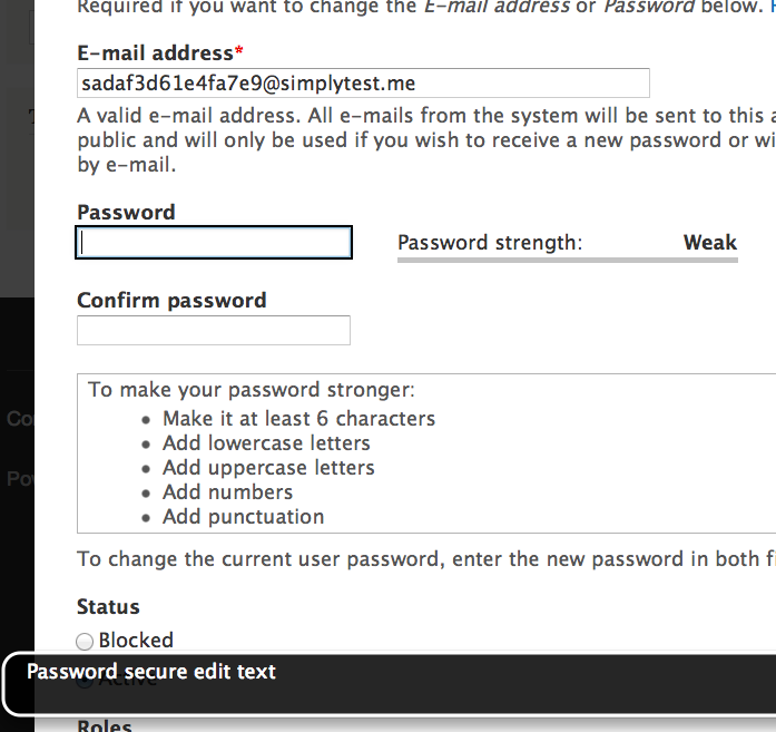 Password secure edit text