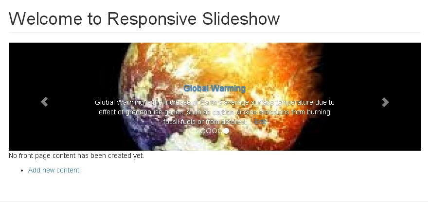 Responsive Slideshow | Drupal org