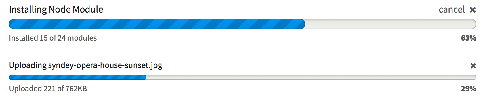 Progress Bar style update [#1989480] | Drupal org