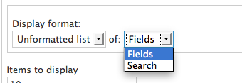You can specify an unformatted list of fields or search