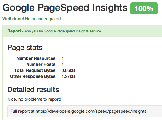 Don't run Google PageSpeed Insights report if URL is