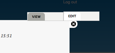 Messed up edit tabs