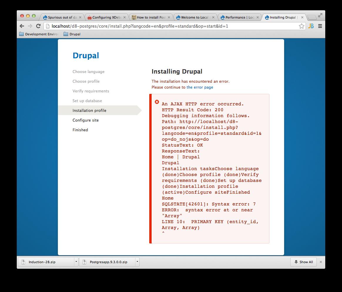 meta] Drupal cannot be installed on PostgreSQL [#2001350