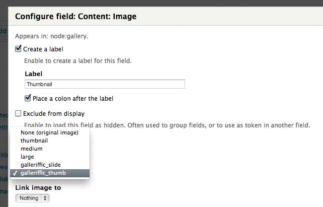 Adding thumbnail field