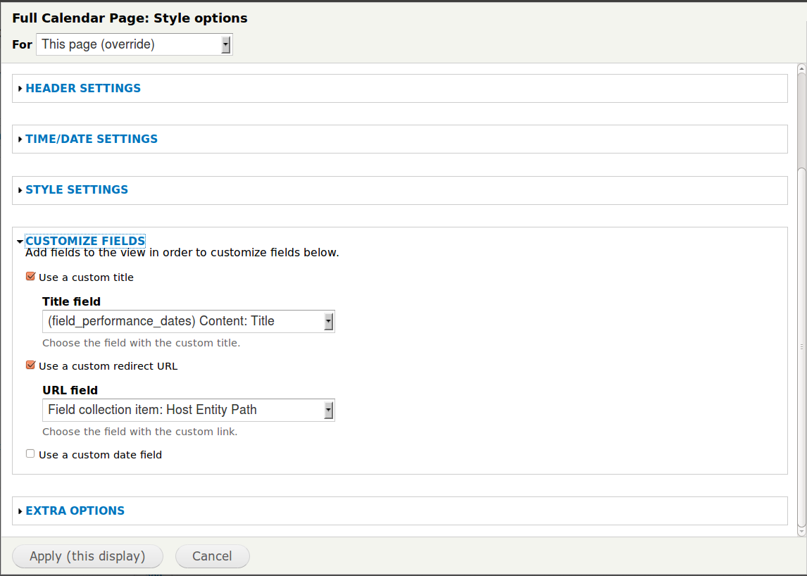 link hrefs include span tag when devel themer is active  view format settings panel