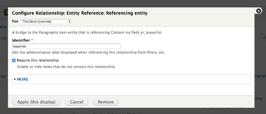 Paragraphs and Views - Display Fields from a Entityreference