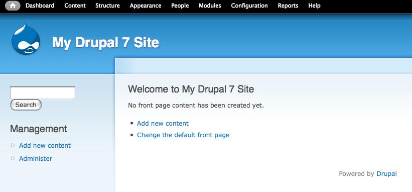 my drupal 7 site
