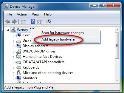 add windows drivers manually