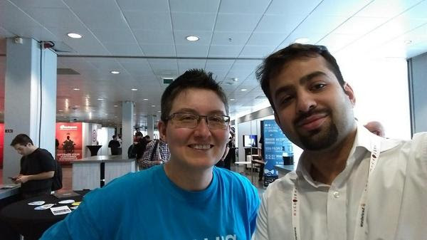 Angie and Jibran at DrupalCon