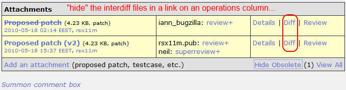 diff operation link available in .patch files