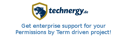 Get enterprise support for your Permissions by Term driven project!