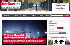 Berliner.de – A portal focused on Berlin, developed using Drupal.