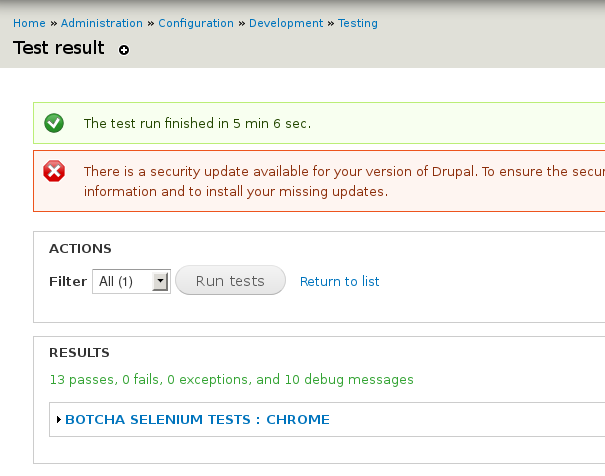 Google Chrome: Make all Selenium tests passed [#1886992
