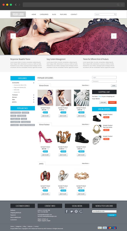 drupal themes online shop