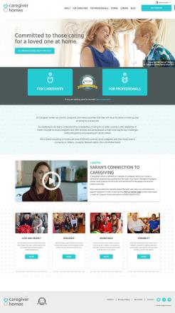 Caregiver Homes homepage