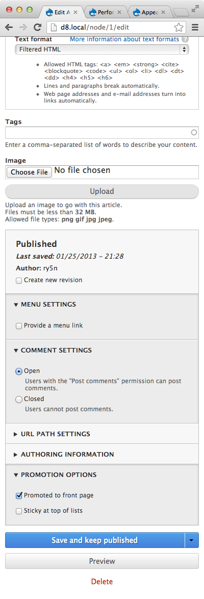 Implement the two column layout for the new create content page chrome narrow spiritdancerdesigns Choice Image