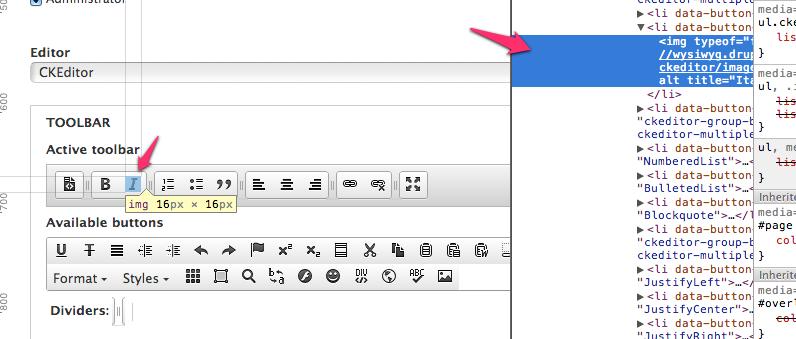 Improve CKEditor toolbar configuration accessibility