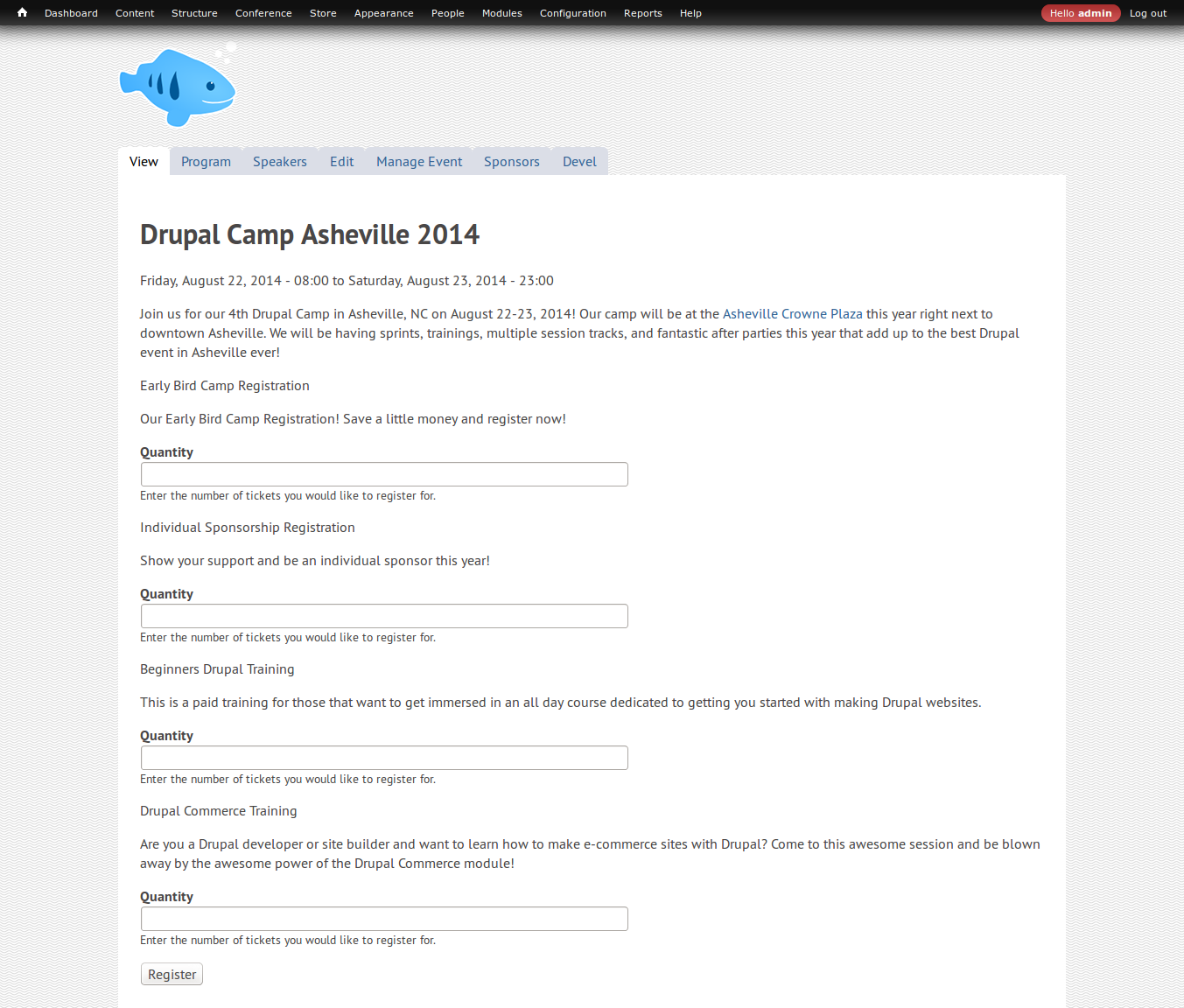 Provide Event / Conference Tickets / Registrations | Drupal.org