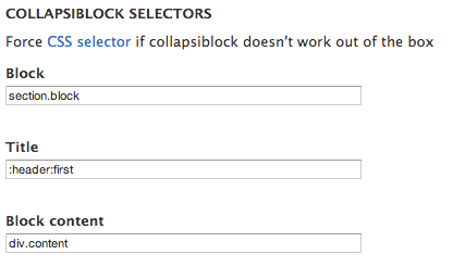 Collapsiblock