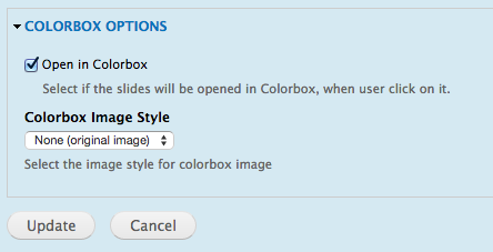 Colorbox options