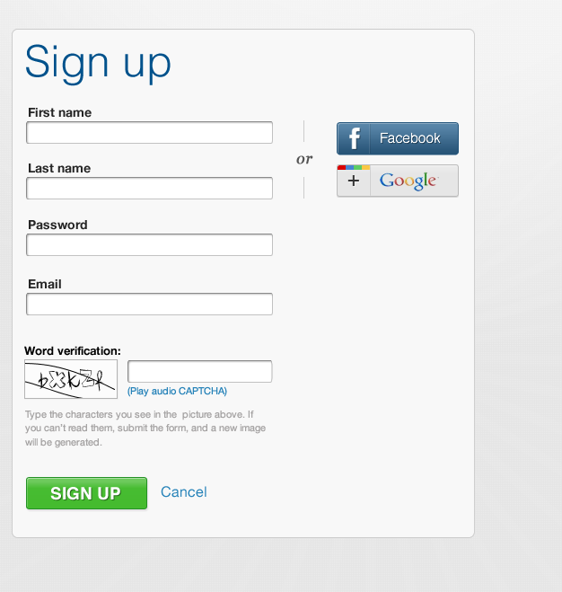 Login/signup to Commons site with Google/Facebook account