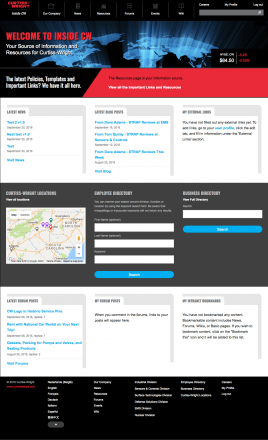 Curtiss-Wright Intranet Homepage